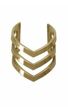 All women deserve to wear this Wonder Woman inspired cuff... Triple V Cuff by TOM TOM Jewelry:  www.mybeautifuldressing.com/en/4074-triple-v-cuff.html