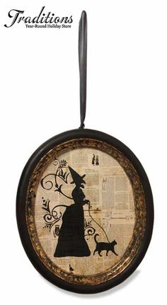 ☆ Silhouette Witch in a Frame :¦: Shop: Traditions Year-Round Holiday Store ☆