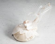 Wedding Fascinator Doves by SeegangBerlin on Etsy