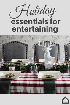 Holiday Essentials For Entertaining Include The Perfect Dining Table Décor.  Create The Christmas Feel With