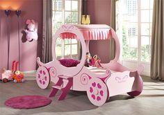 Kinderbett in Form einer Kutsche - Kutschenbett Royal Princess in Rosa - für die kleine Prinzessin von heute!