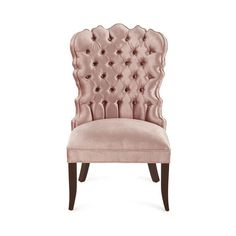 Haute House Isabella Dining Chair ($1,439) ❤ liked on Polyvore featuring home, furniture, chairs, dining chairs, colored chairs, hollywood chairs, colored furniture, handcrafted furniture and haute house