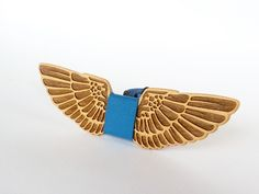 Галстук-бабочка Wings ручной работы.
