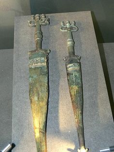 Celtic swords. Celtic museum in Hallein (Salzburg).