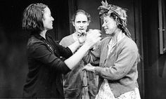 Katie Mitchell, centre, directs Ruth Lass and Kristin Hewson in Live Like Pigs.