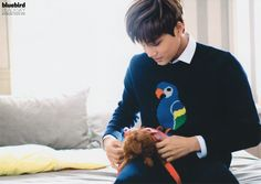 Look at the puppy! And Kai, look at Kai! He loves that puppy so much, you can just tell lol