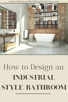 There is always something cool about an industrial chic bathroom design. But how can you achieve this look in your own home? We have the answers here | Innovate Building Solutions | Industrial Chic Bathroom | Interior bathroom design | Bathroom Remodeling Ideas | Dream Bathroom Design | #BathroomDesigns #InteriorBathroomDesign #DreamBathroom #IndustrialStyleBathroom