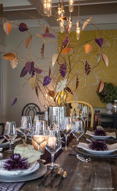 Make a Thankful Tree for Your Celebration Centerpiece