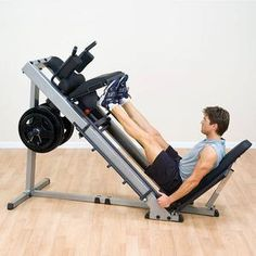 Body-Solid Leg Press Hack Squat - Heavy-duty steel mainframe gives the machine a pound capacity. Do leg presses then flip the seat and backpad to turn around and perform hack squats Home Gym Equipment, No Equipment Workout, Fitness Equipment, Gym Fitness, Gym Training, Weight Training, Strength Training, Hack Squat Machine, Gluteal Muscles