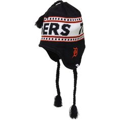 '47 Brand Detroit Tigers Montreaux Tassle Knit Hat With Strings - Black