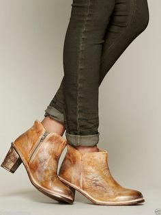 """Free People """"Whiskey Sunset"""" Sonic Boot Bed Stu Tan Rustic Vintage Destroyed"""