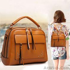 Summer Multifunction Rivet College Backpack Handbag