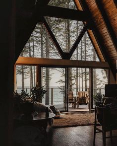 Dream Home Design, My Dream Home, House Design, Cabins In The Woods, House In The Woods, Getaway Cabins, A Frame House, Forest House, Forest Cabin