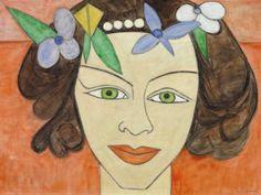 Portrait by Turkish Painter Şükriye Dikmen(Turkish,1918 2000)
