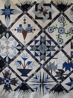 Beautiful blue and beautiful quilting.