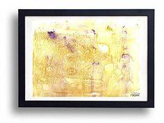"""Golden landscape painting, original watercolor painting, 9"""" x 12""""fine art"""