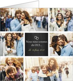 On adoooore ces faire part personnalisables ! Cette superbe ardoise multi-photos est parfaite pour annoncer votre mariage à vos amis et à votre famille. Une invitation à l'image de votre amour. Ajoutez vos plus belles photos de couple sur le site Popcarte