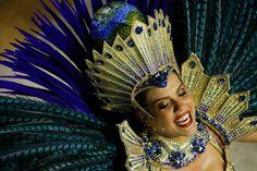 Carnival celebrations in Rio de Janeiro A performer from the Academicos do Grande Rio samba school parades during carnival celebrations at the Sambadrome in Rio de Janeiro, Brazil, Sunday, Feb. Samba, Showgirl Costume, Carnival Costumes, Masquerade Ball, Showgirls, Mardi Gras, Photo Galleries, Captain Hat, Dress Up