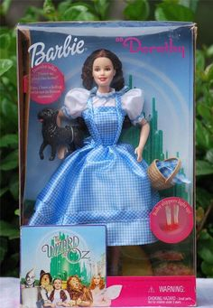 Wizard of Oz TALKING BARBIE As DOROTHY Doll LIGHT UP Slippers #25812 NIB #Mattel #DollswithClothingAccessories