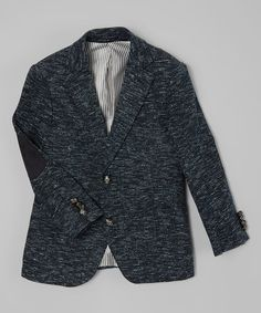 Love this Gray Marled Elbow Patch Blazer - Kids on #zulily! #zulilyfinds