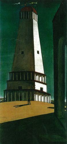 Giorgio de Chirico (Italian, b. Greece, 1888-1978). The Nostalgia of the Infinite, 1912. Oil on canvas. 135.2 x 64.8 cm (53 1/4 x 25 1/2 in.). The Museum of Modern Art, New York.