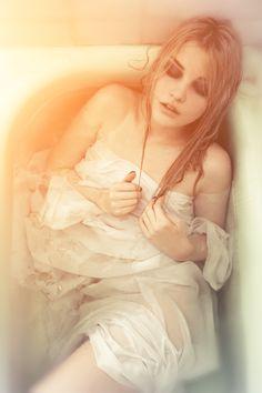 white robe bath