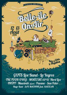 festival Belle Ile On Air 2016  #affiche #festival #musique
