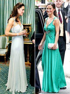   Kate & Pippa Middleton in Alice Temperley dresses  