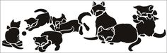 Kittens stencil from The Stencil Library GENERAL range. Buy stencils online…                                                                                                                                                     More