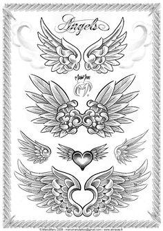 Dibujos y Plantillas para imprimir: Plantillas de dibujos Alas de Angel 01