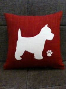 Personalised Westie Dog Cushion