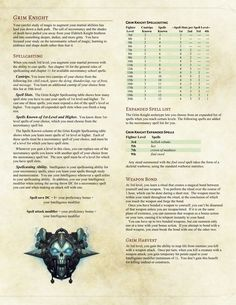 DnD 5e Homebrew — Grim Knight Fighter by Shylocv