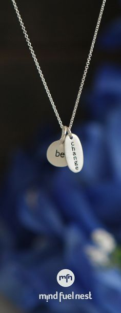 Be Change Pendant Necklace, USA  ...change doesn't happen by chance!