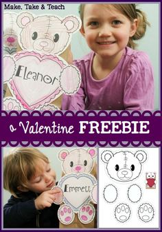 FREE printables for creating valentine bags.