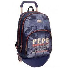 Mochila con carro Pepe Jeans Dailes 44cm 2 compartimentos