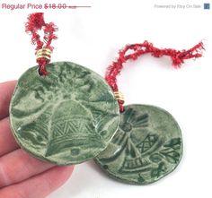 CIJ SALE Christmas Bells Ornament Handmade door DeeDeeDeesigns