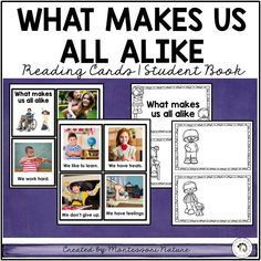 What Makes Us All Alike - Social Emotional Learning Teaching Emotions, Social Emotional Learning, Primary Resources, Teaching Resources, Montessori Homeschool, Picture Cards, Learning Activities, Social Studies, Booklet