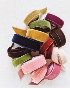 Luxe velvet ribbon in dreamy fall hues!