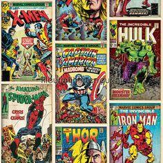 Marvel Action Heroes behang 70-238, Kids@home van Noordwand