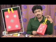 Creative Corner    How to Make Paper Bags    Colorful Paper Bags with Ha...