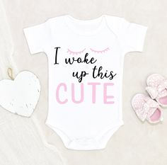 Baby Girl Onsies, Newborn Onesies, Cute Onesies For Babies, Funny Baby Shirts, Baby Shower Gifts, Baby Gifts, New Baby Products, Heat Transfer, Baby Bodysuit