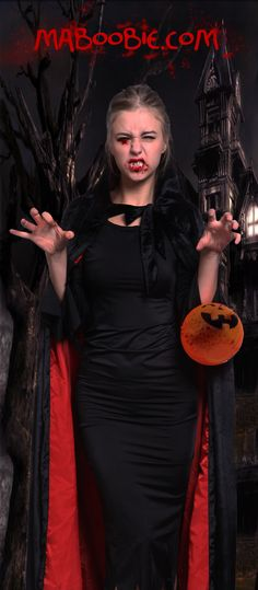 Scary Medieval Black Red Cloak Halloween Hooded Cape Robe Costume Fancy Dress red