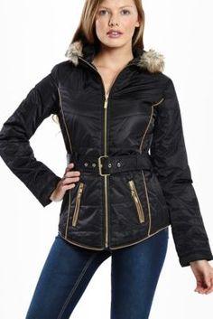 Graham Faux-Fur-Trim Puffer Jacket | GuessFactory.com
