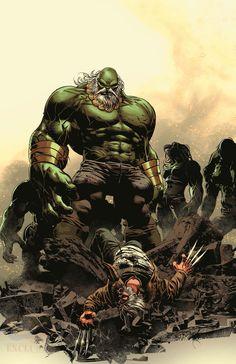 #Hulk #Fan #Art. Old Man Logan Vol.2 #26 Cover) By: Mike Deodato Jr. ÅWESOMENESS!!!™ ÅÅÅ+