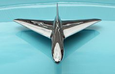 1954 Ford Customline Hood Ornament -- I learned how to stay center in my own lane using this hood ornament!