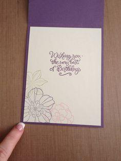 Flower birthday card - inside