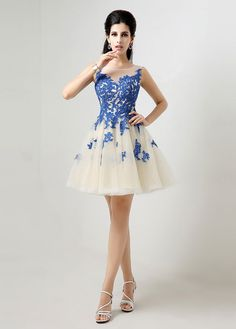 Homecoming Dress With Lace Appliques