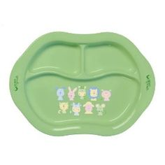Green Sprouts Cornstarch Divided Plate, (baby feeding, bpa free, dishes, eco-friendly, green sprouts)
