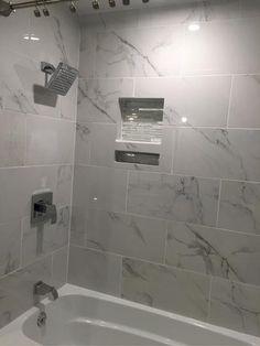 Faux Carraras Marble Tile The Water Closet Pinterest