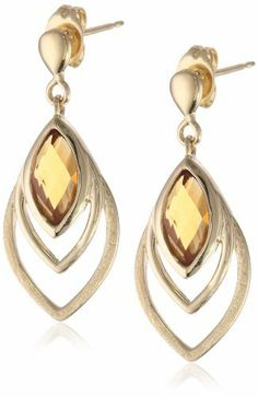 18k Yellow Gold Plated Sterling Silver Genuine Madeira Citrine Elongated Triple Oval Drop Earrings Amazon Curated Collection. $48.99. Made in China. Save 51% Off!